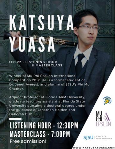 Mu Phi Epsilon presents Katsuya Yuasa