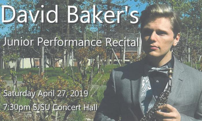 David Baker Junior Saxophone Recital